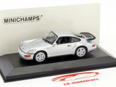 Porsche 911 (964) Turbo 築 1990 銀 メタリック 1:43 Minichamps