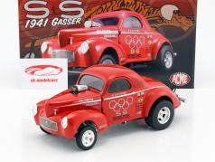 Willys Gasser Team S&S year 1941 red 1:18 GMP