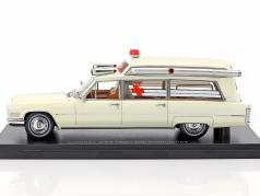 Cadillac S&S High Top Ambulance cream white 1:43 Neo