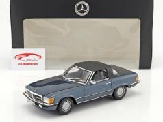 Mercedes-Benz 300 SL (R107) year 1985-89 lapis blue metallic 1:18 Norev