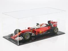 High-quality acrylic showcase for model cars in scale 1:18 black SAFE