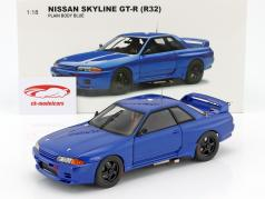 Nissan Skyline GT-R (R32) Plain Body Version blå 1:18 AUTOart