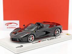 Ferrari LaFerrari Aperta com mostruário preto 1:18 BBR