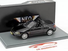 Honda CRX del Sol ano de construção 1992 preto metálico 1:43 Neo