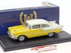 Chevrolet 150 2-Door Sedan year 1957 yellow / white 1:43 BoS-Models