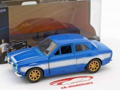 Brian's Ford Escort RS2000 MK1 Fast and Furious blue / white 1:32 Jada Toys