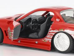 Dom's Mazda RX-7 Fast and Furious 2001 red 1:32 Jada Toys