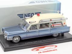 Cadillac High Top Ambulance blue / white 1:43 Neo