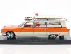 Cadillac High Top Ambulance orange / white 1:43 Neo