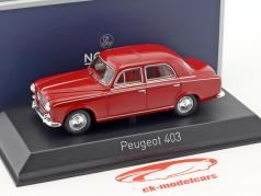 Peugeot 403 year 1963 red 1:43 Norev