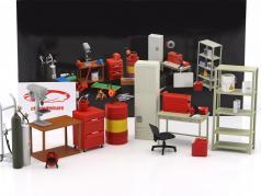 Garage Kit set 1:18 AUTOart