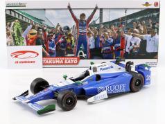 Takuma Sato Indycar Honda #26 Winner Indy 500 2017 Andretti Autosport 1:18 Greenlight