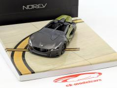 Peugeot EX1 Concept Car year 2010 dark gray metallic / olive green 1:43 Norev