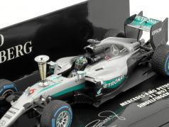 Nico Rosberg Mercedes F1 W07 Hybrid #6 Sindelfingen Demo Run World champion F1 2016 1:43 Minichamps