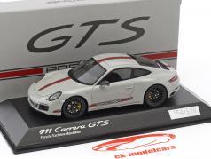 Porsche 911 (991) Carrera GTS gray / red 1:43 Spark