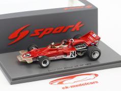 Emerson Fittipaldi Lotus 72C #24 vincitore USA GP formula 1 1970 1:43 Spark