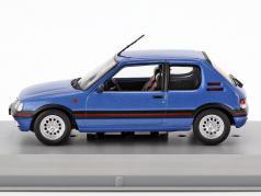 Peugeot 205 GTI anno di costruzione 1992 blu metallico 1:43 GTI Collection