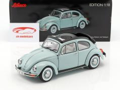 Volkswagen VW Beetle 1600i Ultima Edicion With folding roof year 2003 aquaris blue 1:18 Schuco