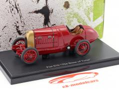 Fiat S76 The Beast of Turin year 1911 dark red 1:43 AutoCult