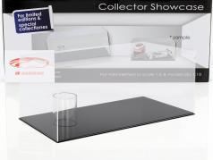 alto qualità vetrina per 1 casco in scala 1:2 e 1 Modelcar in scala 1:18 nero SAFE