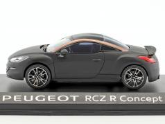 Peugeot RCZ R Koncept bil Opførselsår 2012 måtten sort 1:43 Norev