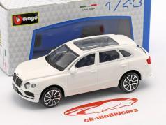 Bentley Bentayga white 1:43 Bburago