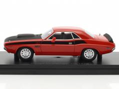 Dodge Challenger T/A year 1970 red / black 1:43 BOS-Models