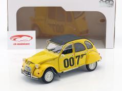 Citroen 2CV James Bond 007 1981 yellow / black 1:18 Solido