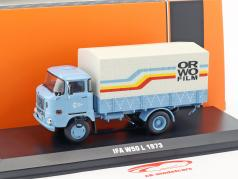 IFA W50 L ORWO Film anno di costruzione 1973 azzurro 1:43 Ixo