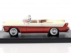 Chrysler Flight Sweep I year 1955 white / red metallic 1:43 Neo