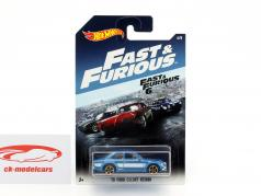 Ford Escort RS1600 year 1970 Movie Fast & Furious 6 (2013) blue metallic / White 1:64 HotWheels