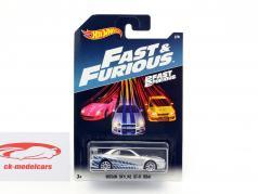 Nissan Skyline GT-R (R34) Movie 2 Fast 2 Furious (2003) silver metallic / blue 1:64 HotWheels