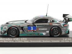 Mercedes-Benz AMG GT3 #3 24h Dubai 2016 Team Black Falcon 1:43 Minichamps