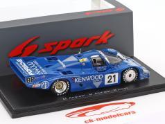 Porsche 956 #21 3rd 24h LeMans 1983 Andretti, Andretti, Alliot 1:43 Spark