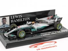 L. Hamilton Mercedes F1 W08 EQ Power #44 Mundo Campeão Espanha GP F1 2017 1:43 Minichamps