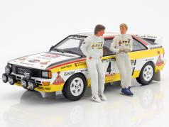 doubles set Walter Röhrl and Christian Geistdörfer figure Rallye 1984 1:18 FigurenManufaktur