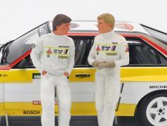 double sæt Walter Röhrl og Christian Geistdörfer figur Rallye 1984 1:18 FigurenManufaktur