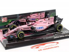 Esteban Ocon Force India VJM10 #31 Australia GP formula 1 2017 1:43 Minichamps