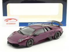 Lamborghini Murcielago LP670-4SV Bj. 2009 purple metallic 1:18 AUTOart