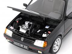 Peugeot 205 GTi 1.9 ano de construção 1988 preto 1:18 Norev