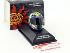 Valentino Rossi MotoGP Misano 2015 AGV casque 1:8 Minichamps