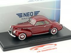 LaSalle Series 50 coupe year 1940 dark red metallic 1:43 Neo