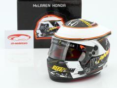 Stoffel Vandoorne McLaren Honda Belgique GP formule 1 2017 casque 1:2 Bell