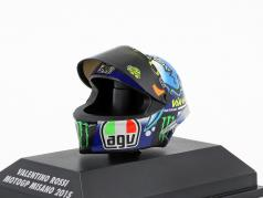 Valentino Rossi MotoGP Misano 2015 AGV Helm 1:8 Minichamps