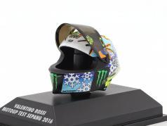 Valentino Rossi MotoGP Test Sepang 2016 AGV Helm 1:8 Minichamps