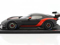 Aston Martin Vulcan coupe year 2015 mat black / red 1:18 True Scale