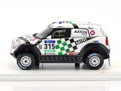 Mini All4 Racing #315 4 ° Rallye Dakar 2016 Hirvonen, Perin 1:43 True Scale