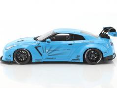 Nissan GTR (R35) LB Performance light blue 1:18 GT-Spirit