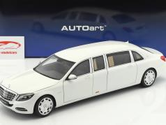 Mercedes-Benz Maybach S 600 Pullmann year 2016 white 1:18 AUTOart