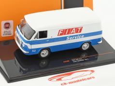 Fiat 238 furgone Fiat Service anno di costruzione 1971 bianco / blu 1:43 Ixo